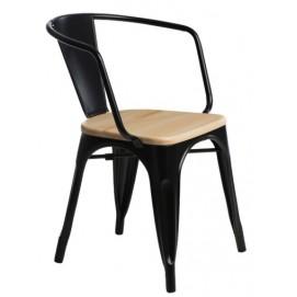 Кресло Tolix MC-005К черный+натуральный Primel