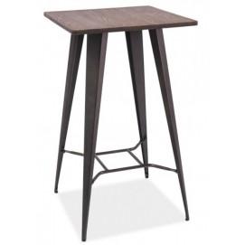 Стол барный Tolix MC-60W графит+орех Primel