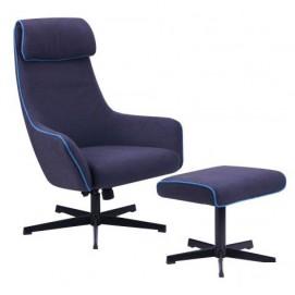 Кресло-реклайнер Lucca 515418 темно-синий Famm 2018