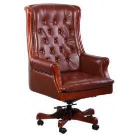 Кресло Линкольн 671-B+PVC коричневое 038663 Famm 2018
