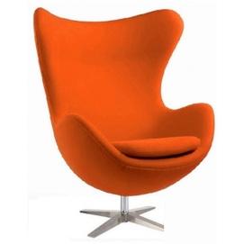 Кресло Эгг оранжевое Mebelmodern