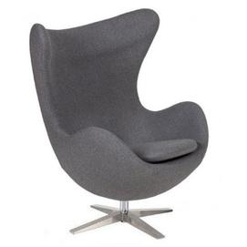 Кресло Эгг серый Mebelmodern