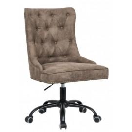 Кресло офисное Victorian Armlehne 38793 коричневое Invicta 2018