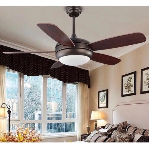 Люстра вентилятор RETRO LED FAN D107см К2217 коричневый Loft