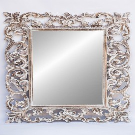 """Зеркало """"Ажур 120*90 см белое 71 205w EtnoXata"""
