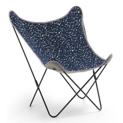 Кресло бабочка CC1086TZ25 - FLYNN синее Laforma 2018