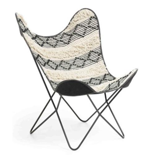 Кресло бабочка FLYNN черно-белое CC0352J61 Laforma 2018