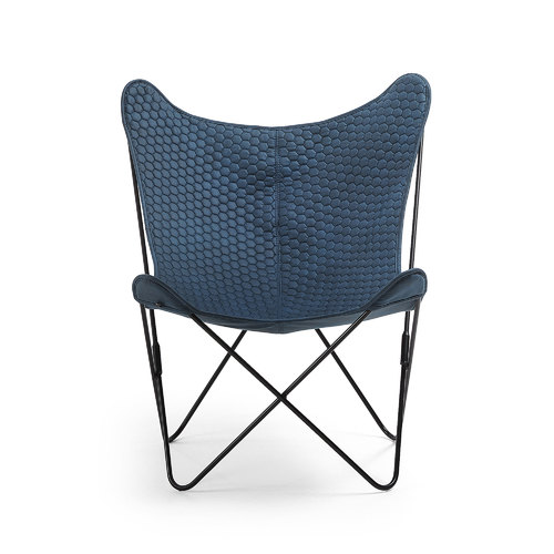 Кресло бабочка CC1086CWQ26 - FLYNN синее Laforma 2018