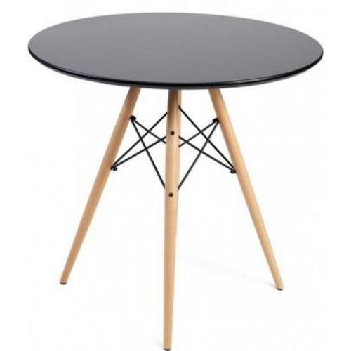 Стол обеденный Тауэр Вуд 80 см черный Mebelmodern