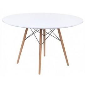 Стол обеденный Тауэр Вуд 100 см белый Mebelmodern
