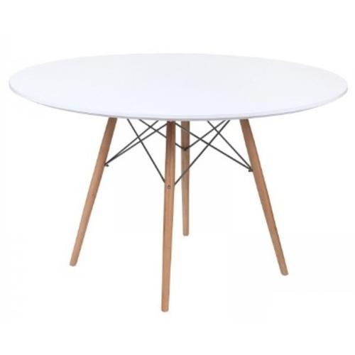 Стол обеденный Стефания 80 см белый Mebelmodern
