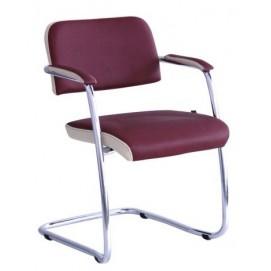Кресло офисное Гранд хром Неаполь N-08 отд. Неаполь N-17 бордо 013126 Famm 2018