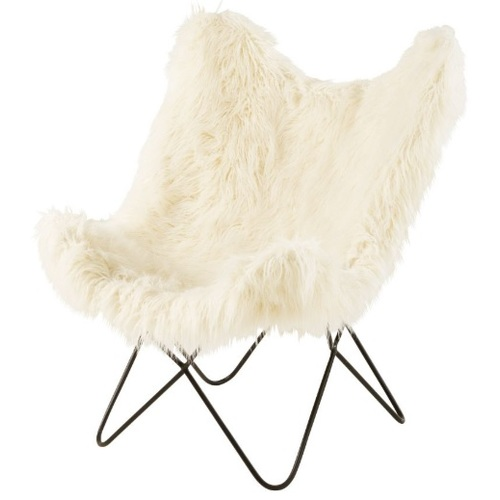Кресло бабочка GRIZZLI 186062 молочное Maisons 2019