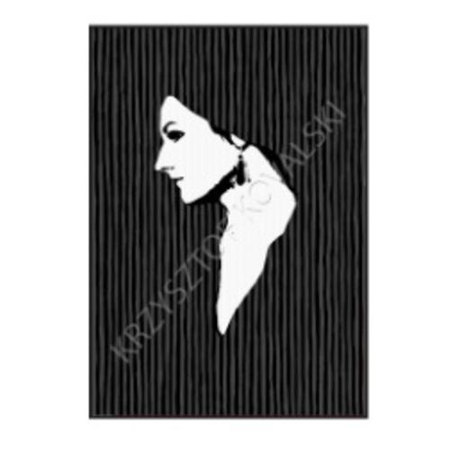 """Картина малая Корнелія 1"""" ART. 5363 черная Pikart"""