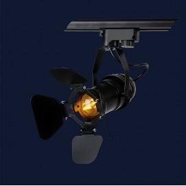 Прожектор на треке 761GD01-1 BK черный Thexata 2019