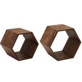 Набор полок Hexagon 2er 38917 натуральный Invicta 2019