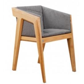 Кресло AIR 2 серое+натуральное Kulik