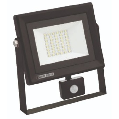 """Прожектор светодиодный с датчиком """"PARS/S-50"""" 50W 6400K черный 068 009 0050 Horoz"""