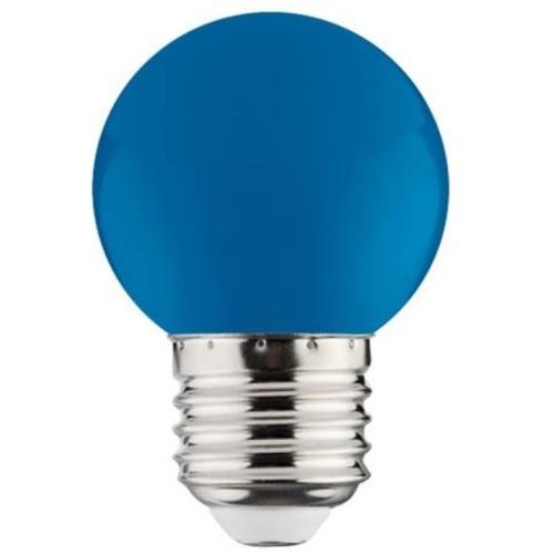 """Лампа Светодиодная """"RAINBOW"""" 1W E27 A45 ( синяя) Horoz"""
