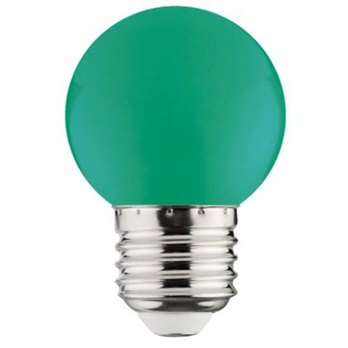 "Лампа Светодиодная ""RAINBOW"" 1W E27 A45 (зеленая) Horoz"