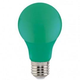 "Лампа Светодиодная ""SPECTRA""3W E27 A60 (зеленая) Horoz"