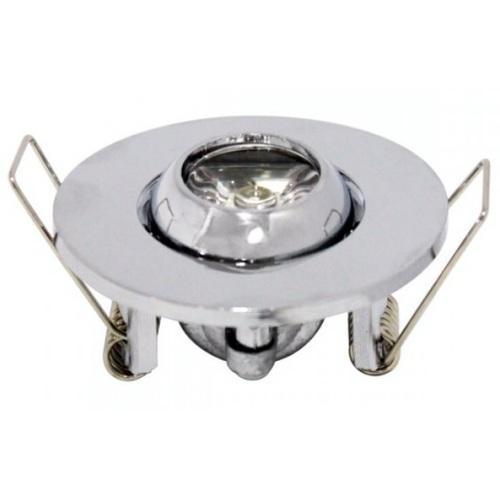 """Точечный светильник """"FIONA"""" 1W 6400К, 2700К хром 016 028 0001 Horoz"""
