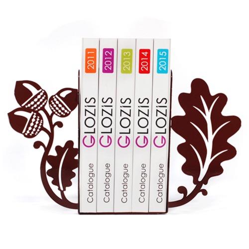 Упоры для книг Glozis Acorns G-022 коричневая