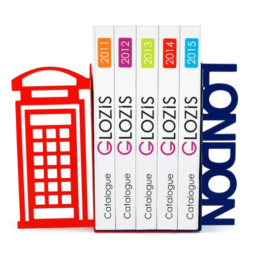Упоры для книг Glozis London цветные