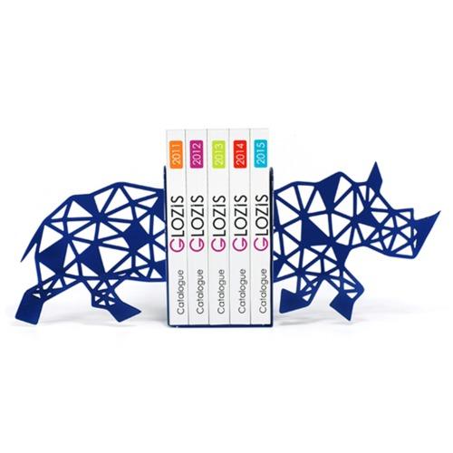 Упоры для книг Glozis Rhino синее