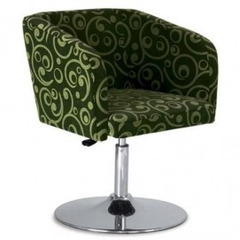 Кресло полубарное HELLO 1S CHROME EC 1 зеленое Nowystyl