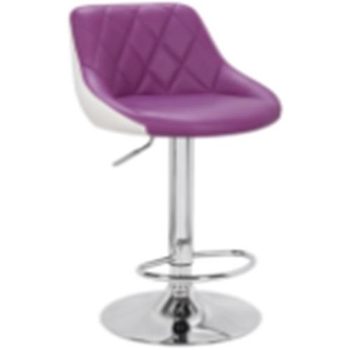 Стул барный НУ372 Primel бело-фиолетовый кожзам