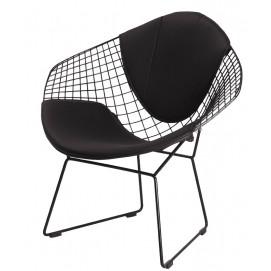 Кресло Bertoia Diamond черное iCOO