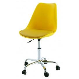 Стул офисный HY128-R желтый Primel