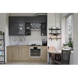 Кухня DRY Lux YAVOR черно-натуральная