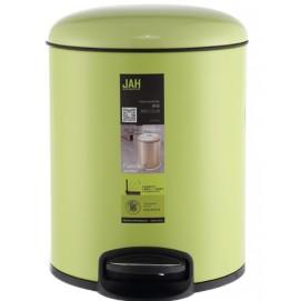 Ведро для мусора с педалью JAH 12 Л 6323 зеленое