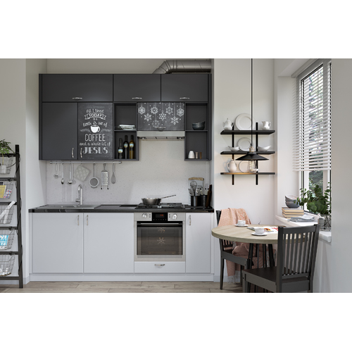 Кухня DRY Lux YAVOR черно-белая