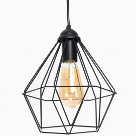 Лампа подвесная Crystal P235 черная Atmolight