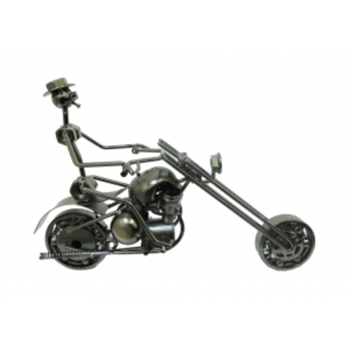 Статуетка мотоцикл с наездником (фа-ам-20).