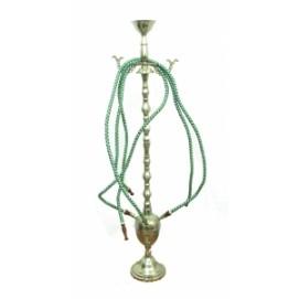 Кальян латунный серебристый на 4 трубки (кл-33)
