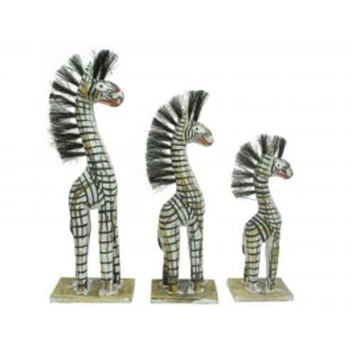 Набор белых тертых зебр (фа-зн-01, зн-02, зн-03)