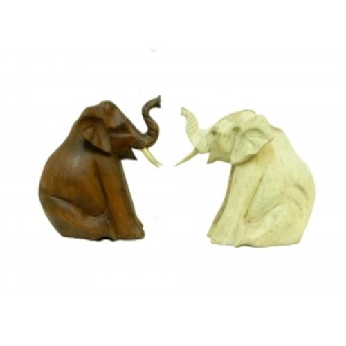 Слон суара сидит, задние лапы подогнул к передним, 2 цвета, 12см (ФА-сс-76)
