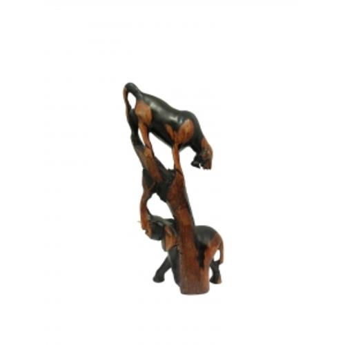Статуетка Животные: ягуар и слон (фа-жэ-17)