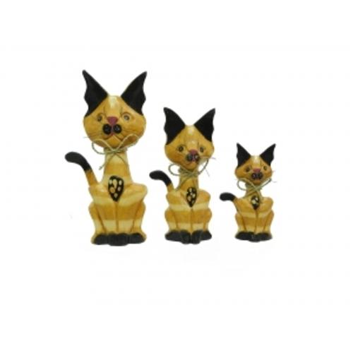 Набор котиков с волнистыми ушами и хвостиком в сторону, 5 цветов (к-117, к-118, к-119)