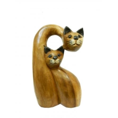 Статуетка Два кота один нависает над другим (фа-км-44, км-45)
