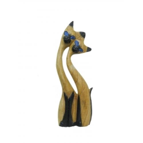 Статуэтка Влюбленные котики, дерево суара (кс-39)