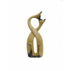 Статуэтка Влюбленные котики, дерево суара (кс-20)