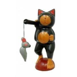Кот идет с коромыслом с мышки (к-356)