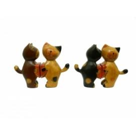 "Статуэтка Два котика/зайчика держат сердце - ""Я тебя люблю"" (набор), 5 видов (кн-31)"