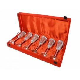 Набор фужеров для шампанского в синей коробке, 2 вида (ФА-нр-74)