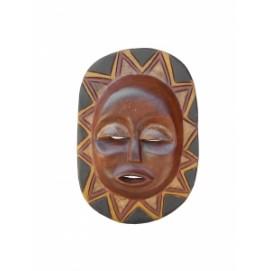 Маска африканская ритуальная, племя Маконда, дерево цейба (мэ-24-01)